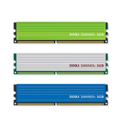 ddr3 memory modules vector image
