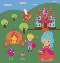 Fantasy royal story vector image
