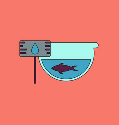 Flat icon design collection fish in an aquarium vector