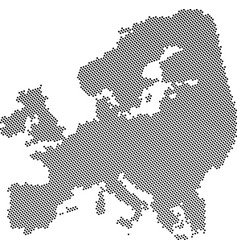 gray abstract europe map vector image