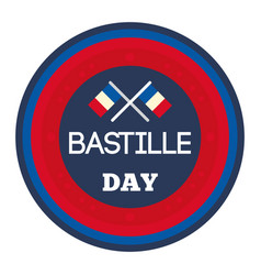 Happy bastille day vector