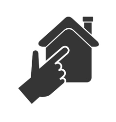 House hand real state isolated vector