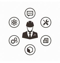 Icon set engineer vector