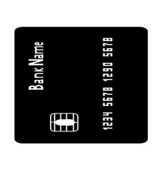 Inserting credit card the black color icon vector
