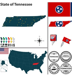 Map of tennessee vector