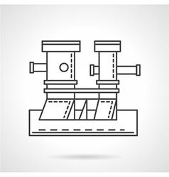 Pier elements line icon vector image vector image