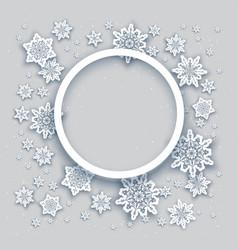 Round christmas frame vector