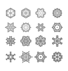 Round Geometric Ornaments Set vector image
