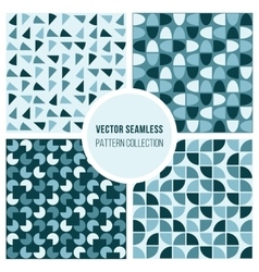 Seamless blue round diagram geometric vector