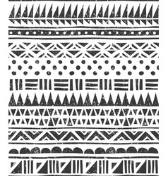 seamless pattern in tribal style abstract vector image vector image