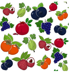Seamless pattern of sweet juicy fruits vector