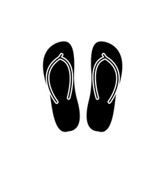 Slippers icon black sign on vector