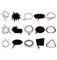 speech bubbles icons set vector image