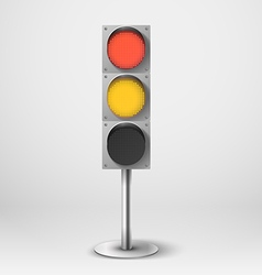 Traffic light Red and yellow diod traffic l vector image vector image