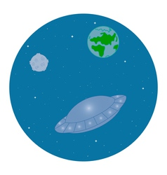 ufo in space vector image