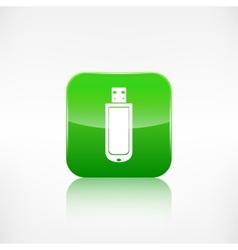 Usb flash drivo web icon Application button vector image vector image