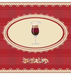 Vintage card-invitation-with coffee vector image vector image