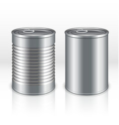 Blank metal products container tin cans isolated vector