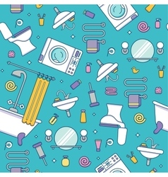 Bath equipment colorful seamless pattern vector