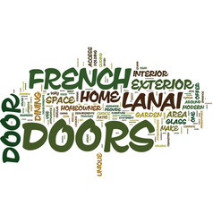 French doors what fits your home best text vector