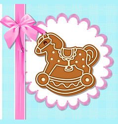 Gingerbread horses vector
