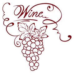 - wine title vector image