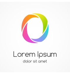 Logo letter O company design template vector image