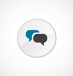 Conversation icon 2 colored vector image