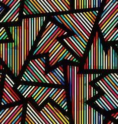 Spectrum geometric seamless pattern vector