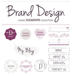 BRAND DESIGN ELEMENTS vector image