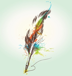 Stylized quill vector