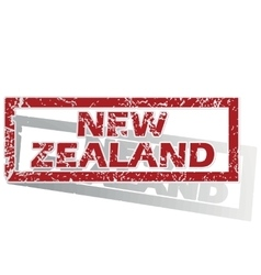 New zealand outlined stamp vector