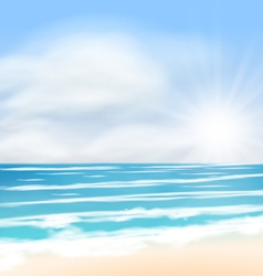 Sea landscape background sunrise vector