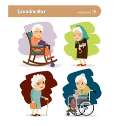 Grandmother cartoon character vector