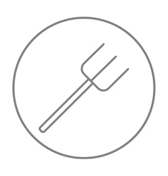 Pitchfork line icon vector