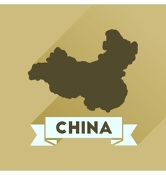 Flat icon with long shadow china card vector