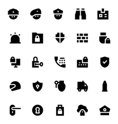 Crime security and defense icons 1 vector