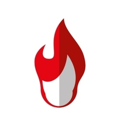 Red flame icon fire design graphic vector