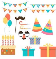Birthday and celebration event flat design vector