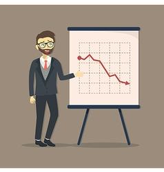Businessman presentation falling down vector
