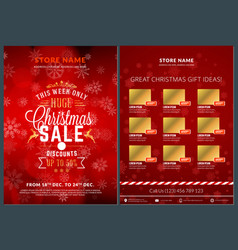 Christmas sale catalog design business flyer vector