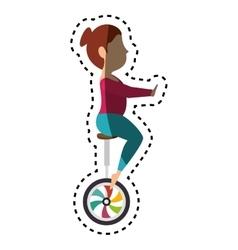 Circus juggler show icon vector