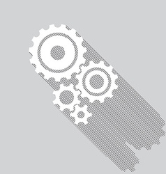 Cogs gears set vector image