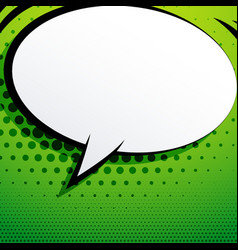 Comic chat bubble on green background with vector