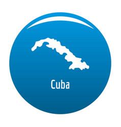 Cuba map in black simple vector