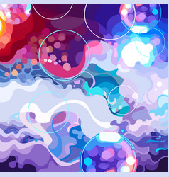 Drawn abstract background of colorful dance floor vector