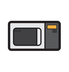 Flat color microwave icon vector