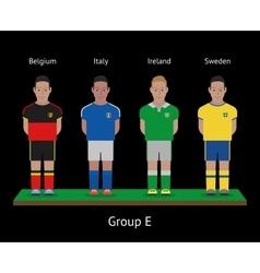 Football players Soccer teams Belgium Italy vector image vector image
