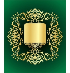 golden elegance vector image