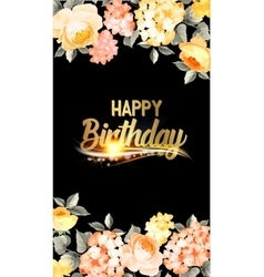 Happy birthday text lettering vector